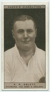 A. R. Aslett, Richmond, The Army and England. (Rugby Union.)