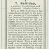 T. Holliday, Aspatria, Cumberland, and England. (Rugby Union.)