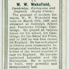 W. W. Wakefield, Cambridge, Harlequin, and England. (Rugby Union.)