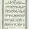 J. M. Bannerman, Glasgow H.S.F.P. and Scotland. (Rugby Union.)