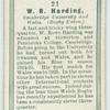 W. R. Harding, Cambridge University and Wales. (Rugby Union.)