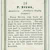 P. Brown, Dewsbury. (Northern Rugby League.)