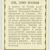 Col. John Buchan.