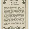 A.P.F. Chapman.