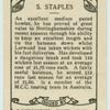 S. Staples.