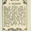 E. Hendren.