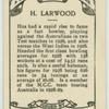 H. Larwood.