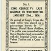King George V's last journey to Westminster.