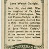 Jane Welsh Carlyle.