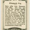 Elizabeth Fry.