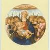 Botticelli.  Mandonna and singing angels.