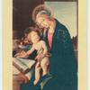 Botticelli.  Virgin and child.