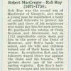 Robert MacGregor - Rob Roy (1671-1734).
