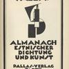 Pallas : Almanach estnischer Dichtung und Kunst, [Title page]