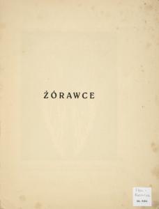 Żórawce. (Half title)