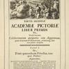 [Head-piece.] Partis Secundæ Academiæ Pictoriæ Liber Prymus de vita & encomiis, [...]