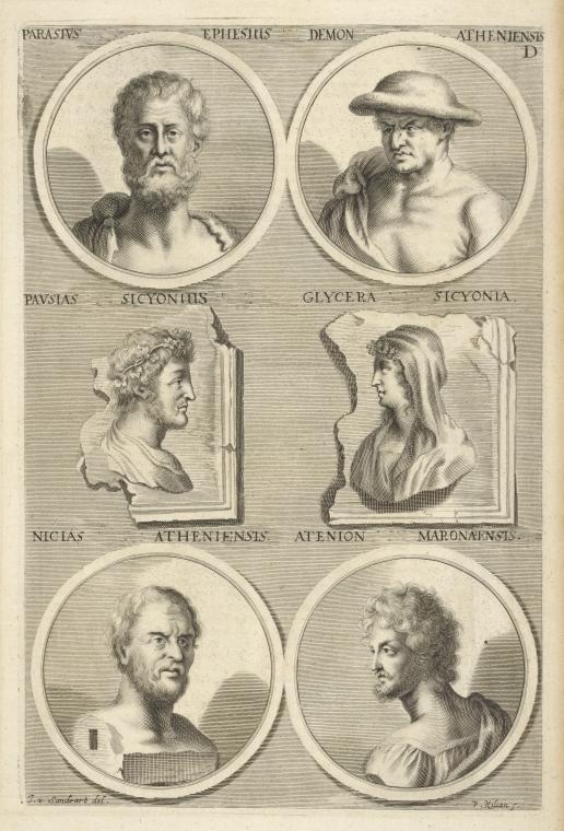 Fascinating Historical Picture of Parrhasius, 5th cent. B.C. in 1683