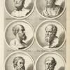 [Bust portraits.] Homerus, Heraclitus, [...]