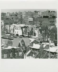 Jackson Court & Ft. Hamilton Parkway from Verrazano Bridge. Bay Ridge. January 21, 1978.