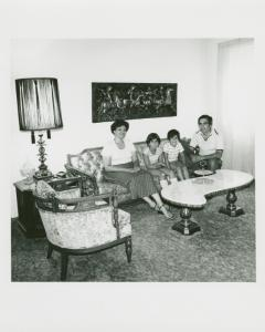 Roy & Martha Zirillo & children. 85 76th St., Bay Ridge, Brooklyn. July 26, 1978.