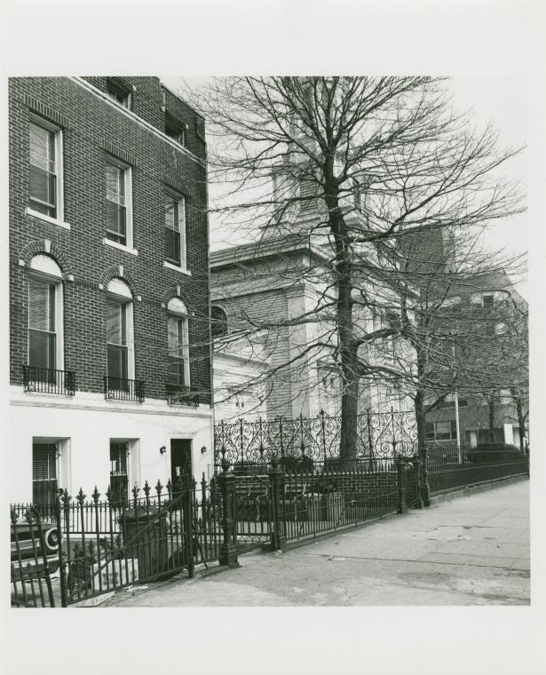 Robert Minter house. 853 Bushwick Ave., Bushwick, Brooklyn. April 1, 1979.  Photo by Dinanda Nooney. Credit: The New York Public Library