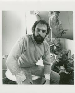 Richard Cortez (painter), owner. 86 Oxford St., Fort Greene, Brooklyn. January, 1978.