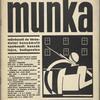 Munka.  1930 február.  12 szám. 11 évfolyam. (Cover)