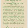 Le Comte Leo Tolstoi.