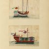 Two drawings of boats.]
