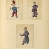 Two drawings of boys, one drawing of a man.]