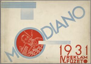Modiano 1931 : IV. reklám füzet. (Cover)