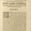 [Head-piece of flowers, cherubs, and bird heads, for dedication to Doña Isabel Farnesio.]