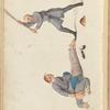 An offender undergoing the bastinade.