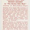 """Virginia Grey and Mickey Rooney in """"The Hardys ride high."""""""
