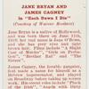 """Jane Bryan and James Cagney in """"Each dawn I die."""""""