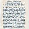 """Clark Gable and Joan Crawford in """"Forsaking all others."""""""