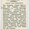 The marriage of Corbal.