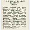 The story of Louis Pasteur.