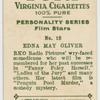 Edna May Oliver, R.K.O. star.