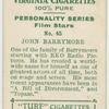 John Barrymore, R.K.O. star.