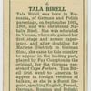 Tala Birell.