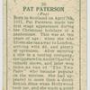 Pat Paterson.
