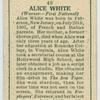 Alice White.