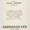 Miriam Hopkins.