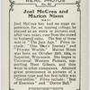 Joel McCrea and Marion Nixon.