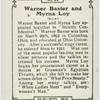 Warner Baxter and Myrna Loy.