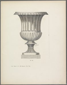 [Design of urn with scalloped decoration.]