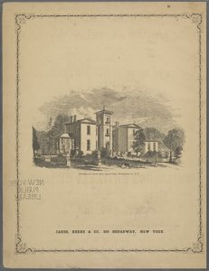 Residence of Adrian Janes, Mary's Park, Westchester Co., N. Y. [Back cover.]