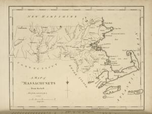 A map of Massachusets [sic] from the best authorities.