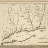 A map of Connecticut.